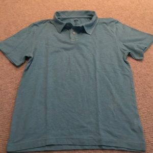 Boys aqua short sleeve slub polo shirt